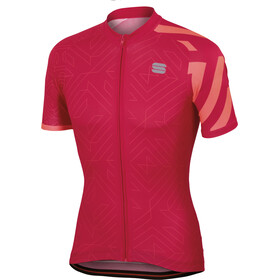 Sportful Graphic 1 Trendy Jersey Men raspberry wine/coral fluo